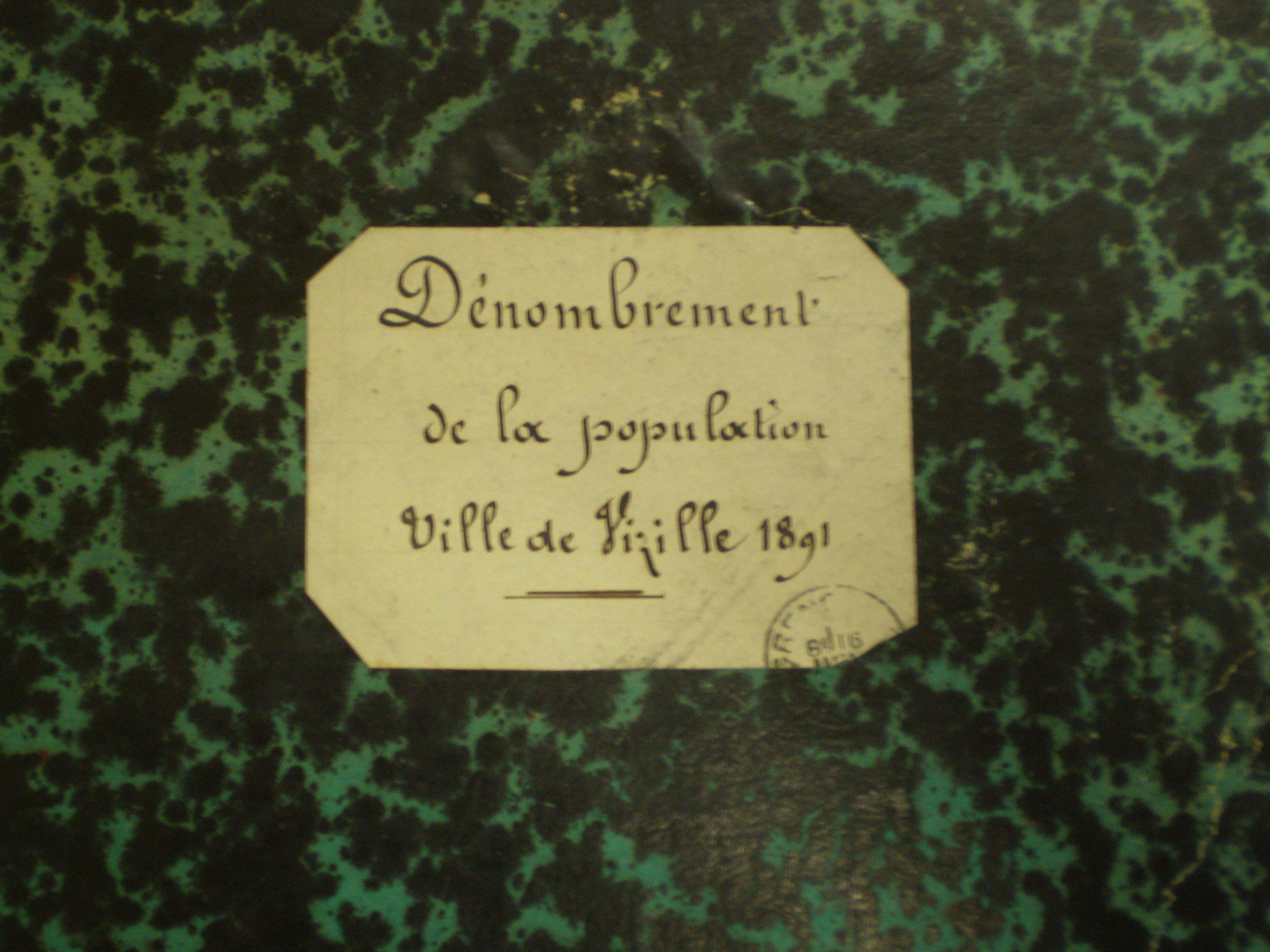 Recensement à Vizille en 1891