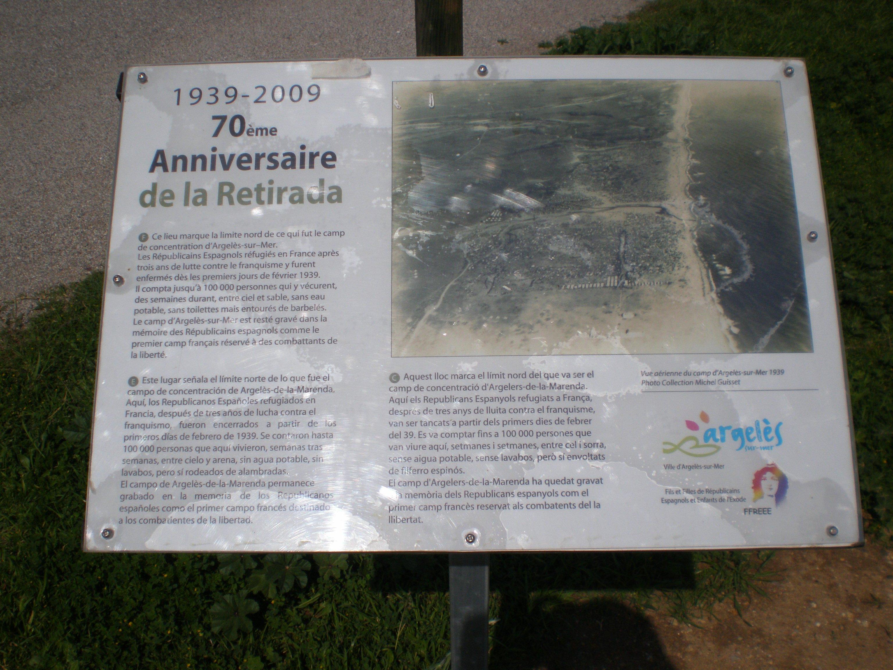 Limite nord de l'ancien camp d'Argelès